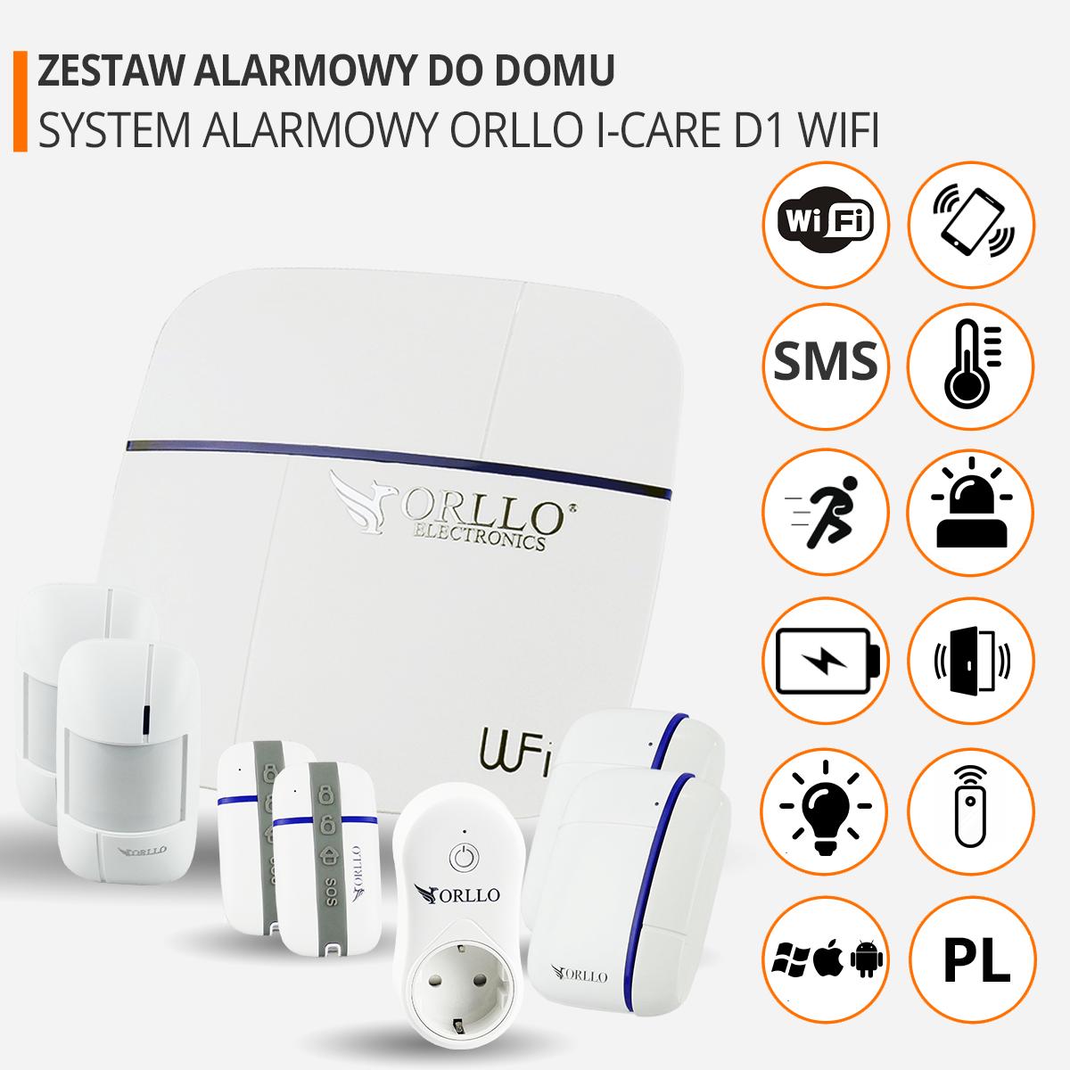 zestaw alarmowy do domu wifi funkcje orllo.pl
