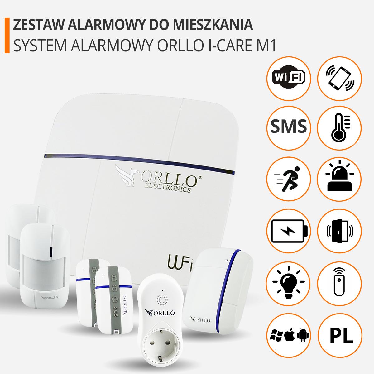 zestaw alarmowy do mieszkania wifi funkcje orllo.pl