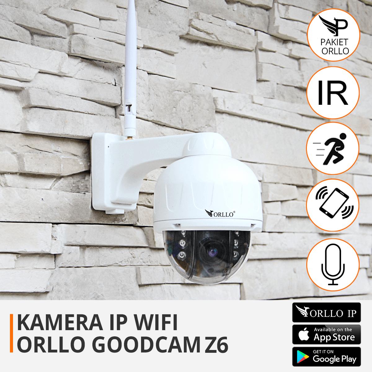 kamera Ip bezprzewodowa obrotowa z zoom funkcje orllo.pl