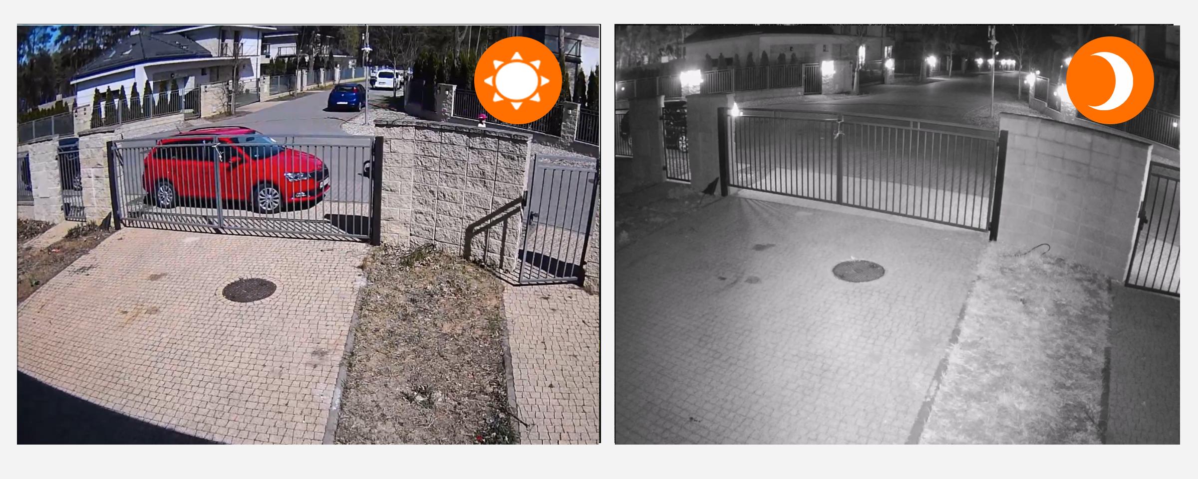 kamera zewnetrzna widok dzien noc podczerwien orllo.pl