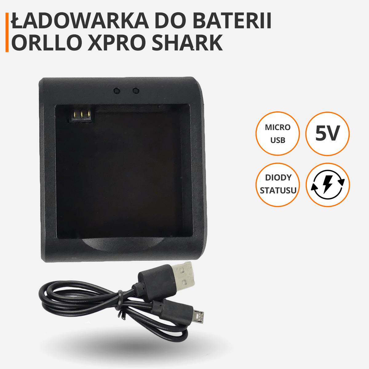ladowarka-baterii-do-kamery-sportowej-orllo-xpro-shark